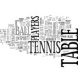tennis without the lawn text background word vector image vector image