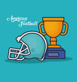 trophy winner award american football vector image