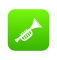 trumpet toy icon digital green vector image