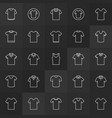 tshirt minimal outline icons t-shirt vector image