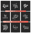 Valentines Day Minimal Greeting Card Set vector image vector image