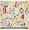 Various Retro Vintage Number and Typography