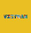 vietnam concept word art vector image vector image