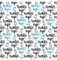 wake up seamless pattern with motivational modern vector image vector image