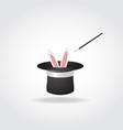 Magic hat with rabbit vector image
