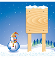 snowman and message board vector image