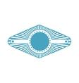 blue stamp abstract art deco emblem vector image