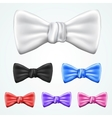 Set of 6 bowties in different colors vector image