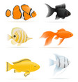 aquarium fish 07 vector image