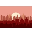 Evening cityscape vector image