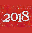 2018 from white snowflakes vector image
