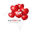 29 september world heart day concept design vector image vector image