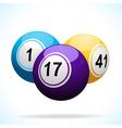 3d bingo balls floating vector image vector image