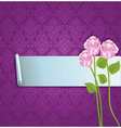 abstract banner with roses vector image