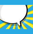 abstract blank speech bubble comic book vector image vector image