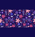 amazing floral pattern with flowers bright vector image vector image