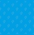 bag of flower seeds pattern seamless blue vector image