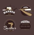 barber shop and shave vintage logo labels badges