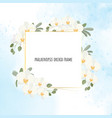 beautiful white phalaenopsis orchid wreath with vector image vector image