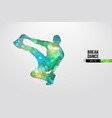 breake dancer teenager dance hip-hop vector image