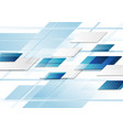bright blue abstract tech corporate background vector image vector image