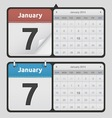 Calendars vector image vector image