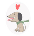 card with cute dog vector image