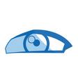 cartoon human eye look style vector image vector image