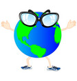 cartoon of the alive planet vector image vector image