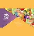 cartoon organic healthy fruits composition vector image vector image