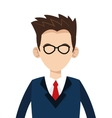 caucasian businessman with glasses icon vector image vector image