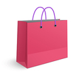 Classic shopping pink bag with violet grips vector image vector image