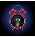 clock with keyhole eye vector image