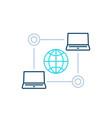 computer network internet technologies line icon vector image vector image