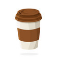disposable paper cup with coffee or tea vector image
