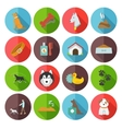 Dog Icons Flat vector image vector image