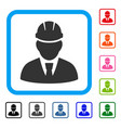 engineer framed icon vector image