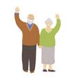 flat happy cheerful senior vector image vector image