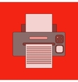flat icon on background Printer vector image