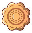 flower cookie icon cartoon style vector image vector image