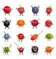 funny berries cartoon characters vector image vector image