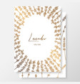 gold wedding invitation with lavenders gold cards vector image