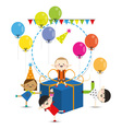 Group of child happy birthday party vector image