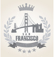 Grunge San Franciso icon laurel weath vector image