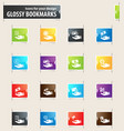 hand and money bookmark icons vector image