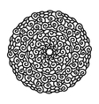 hand drawn monochrome curl mandala isolated on vector image vector image