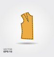 icon sewing and modeling clothes vector image vector image