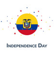 independence day of ecuador patriotic banner vector image vector image