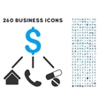 life expenses icon with flat set vector image vector image