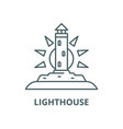 lighthouse line icon linear concept vector image